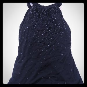 Ann Taylor black sequined top
